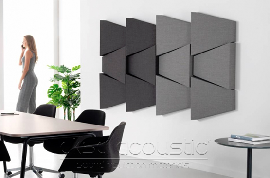 akustik kumaş kaplı 3d duvar paneli