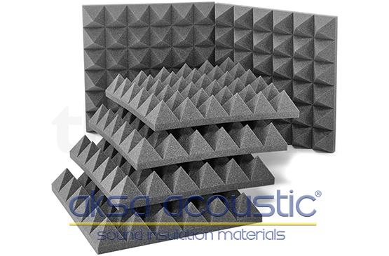 akustik ses yalıtım piramit süngeri