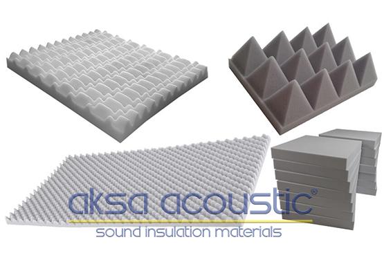 yanmaz akustik ses yalıtım süngerleri